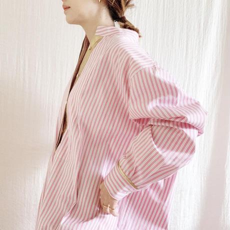 BOUTIQUE stripe X metal  shirts dress TE-3502   /PIK STRIPE