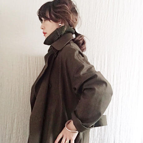 BOUTIQUE  MILITARY COTTON TRENCH COAT TO-3100