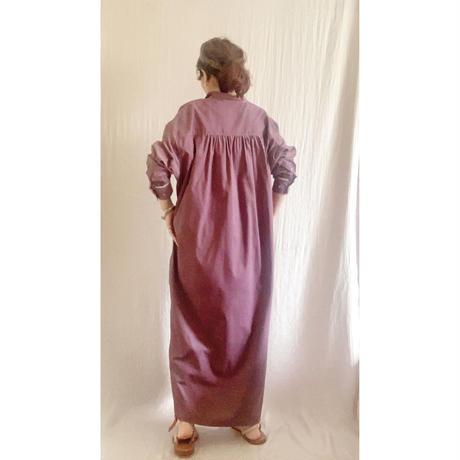 corduroy x metal shirts dress   DUSTY PINK  TE-3604