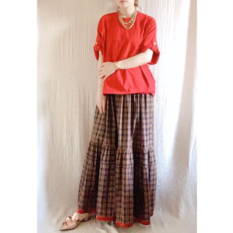 終了しました【予約販売】BOUTIQUE  linen dot  dress TE-3606  (リネン/ドットプリント)