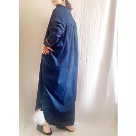 corduroy x metal shirts dress   ROYAL NAVY TE-3604