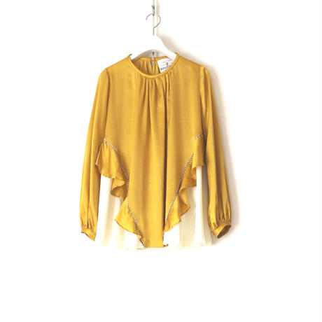 BOUTIQUE silk cotton tops TG-3202 MUSTARD