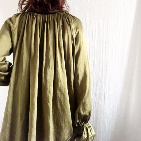 終了しました【予約販売】BOUTIQUE silk cotton back ribbon tops  TG-3301