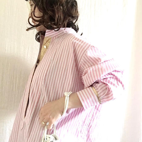 BOUTIQUE stripe cotton  shirts dress TE-3502