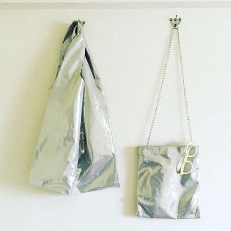 BOUTIQUE metallic silver bag (BIG ) TJZ-3201