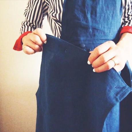 終了しました!【予約販売】【BOUTIQUE】 X 青山有紀さんコラボアイテム  linen apron TA-AP-01(white eco bag付)