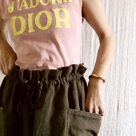BOUTIQUE linen canvas pants TS-3300  《素敵なあの人の大人服》掲載