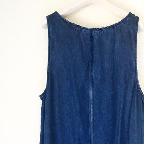 VINTAGE  tencel denim all in onedress     NAVY