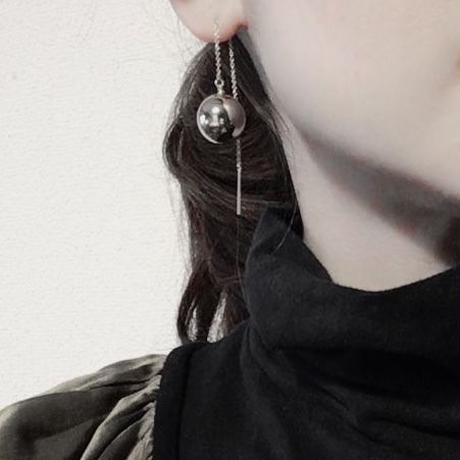 BOUTIQUE  ornament chain  pierces earrings TZ-3401  GOLD《素敵なあの人の大人服》掲載