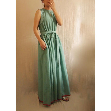 終了しました《予約販売》BOUTIQUE cotton silk long dress TE-3007