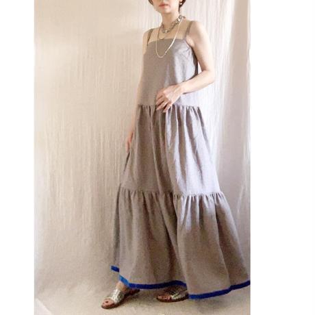 BOUTIQUE  linen dot  dress TE-3606  (リネン/ドットプリント)