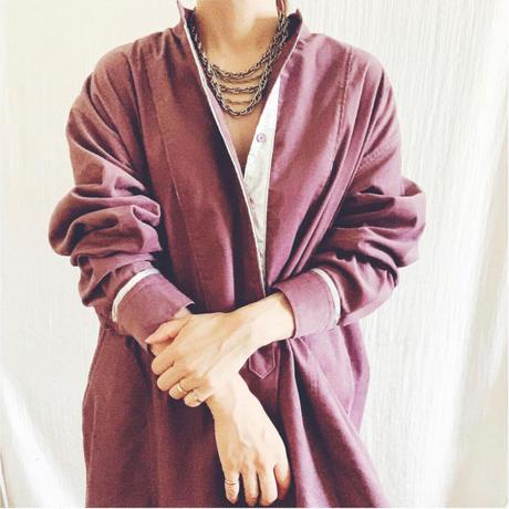 corduroy x metal shirts dress TE-3604   DUSTY PINK