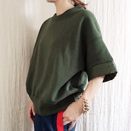 VACANCES  sweat x 	quilting short tops/KHAKI