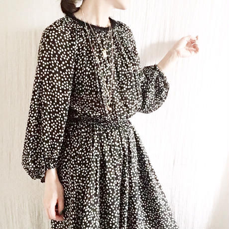 BOUTIQUE confetti print dress  TE-3400(3501)(リボンベルト付)