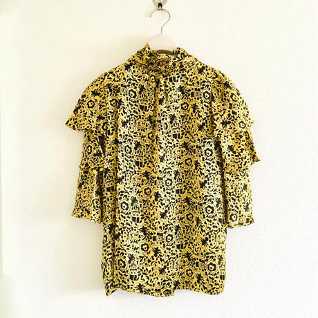 BOUTIQUE art-deco flower print tops TG-2101