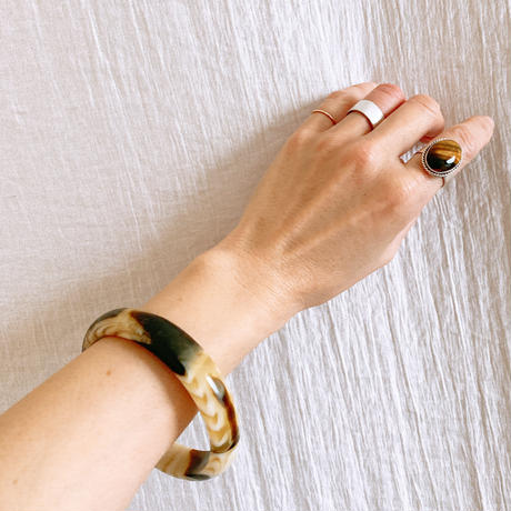【VINTAGE 】tiger eye silver  ring 🇬🇧