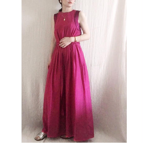 BOUTIQUE cotton silk long dress TE-3007