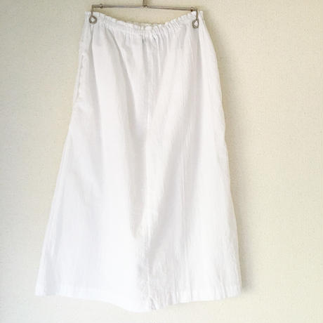 VINTAGE  thermal pocket skirt   WHITE