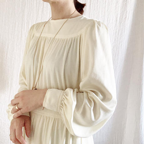 VINTAGE  jersey long dress /OFF WHITE