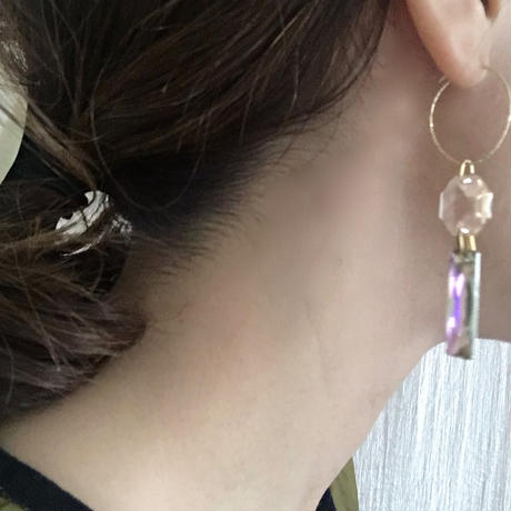 BOUTIQUE  Swarovski TANABATA-STRIP pierce  TZ-3404 / PINKSILVER