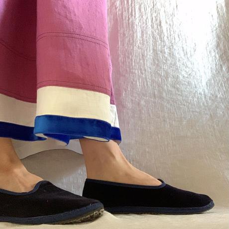 【予約販売】BOUTIQUE  ramie linen  volume dress  TE-3605 MAZENTA PINK