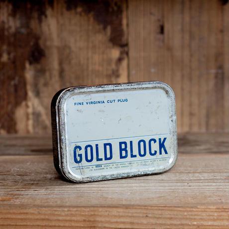 ヴィンテージ・ブリキ缶 Gold Black