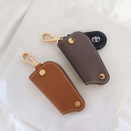 Handcrafted leather key case