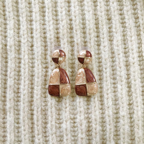 autumn block earring
