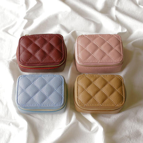 real leather zipper multi case
