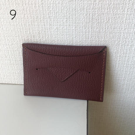 【12月14日発送予定】alran chevre sully leather card case