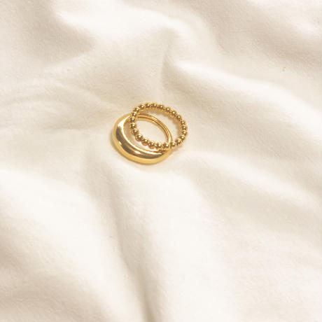2 set ring/ 18k gold plated