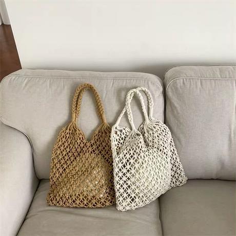 crochet hand bag