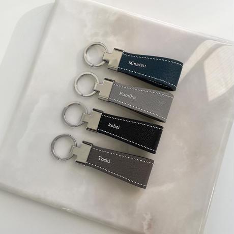 【3月30日発送予定】alran chevre sully leather key ring
