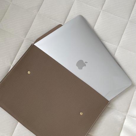 Full grain leather laptop case