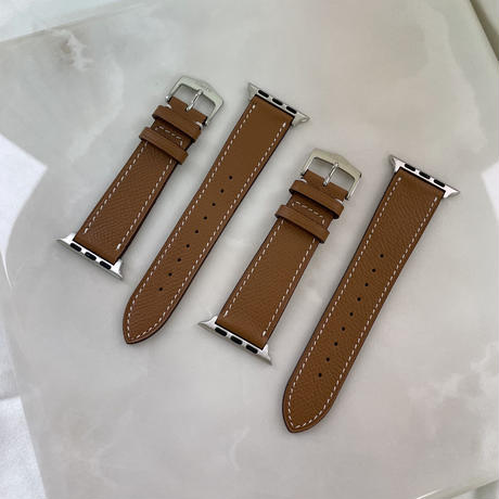 Italian cow leather Apple watch band  -Camel-
