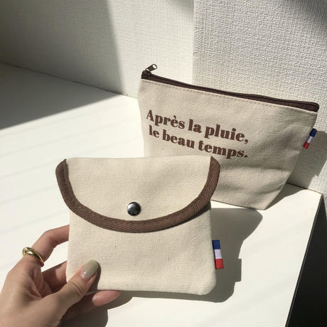 french canvas pouch