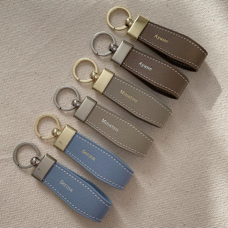 alran chevre sully leather key ring