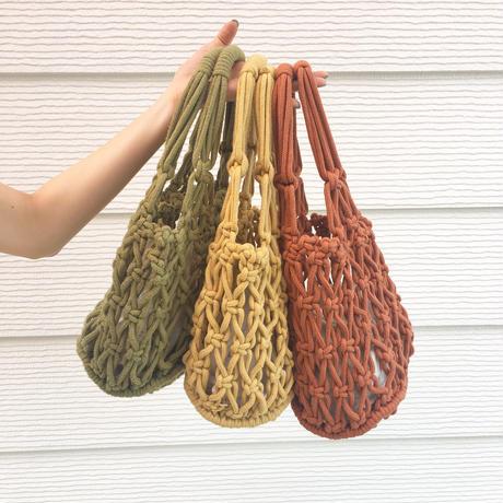 bold crochet bag