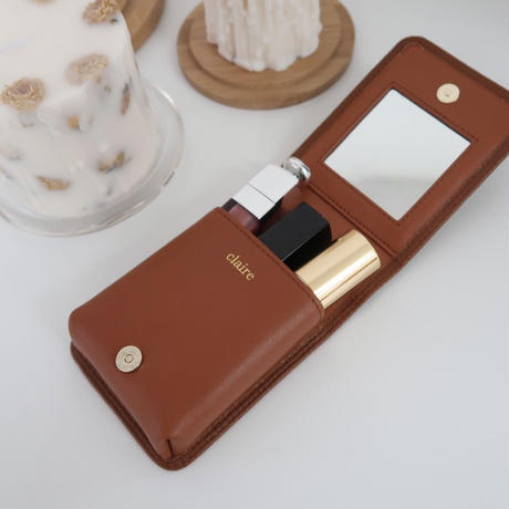 cowhide leather lip case