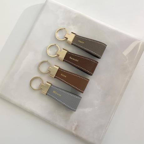 【5月20日発送予定】Handcrafted alran chevre sully leather key ring