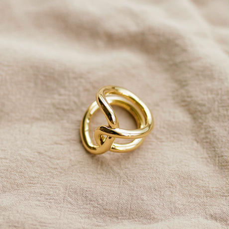 unique ring /18k gold plated
