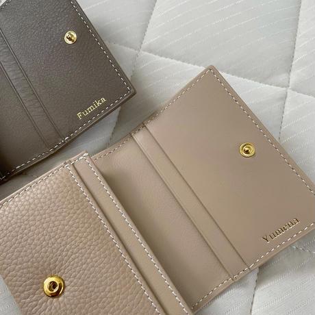 Full grain leather card case