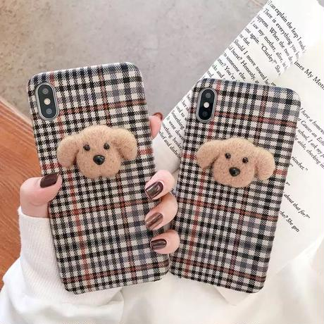 teddy bear plaid iPhone case