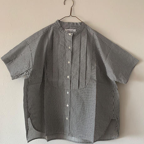 ハンズオブクリエイション  ストライプタック半袖シャツ