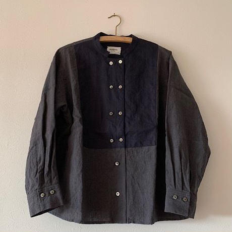 めがね  「春のコックシャツ」dark navy
