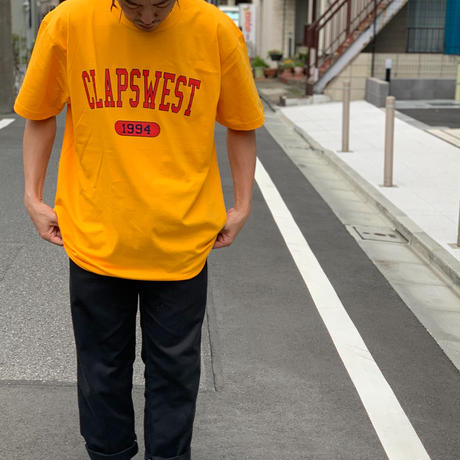 CLAPS COLLEGE TEE  (YELLOW GOLD)