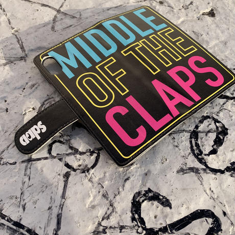 COLOR OF THE CLAPS  手帳型 iPhone Case (BLACK)
