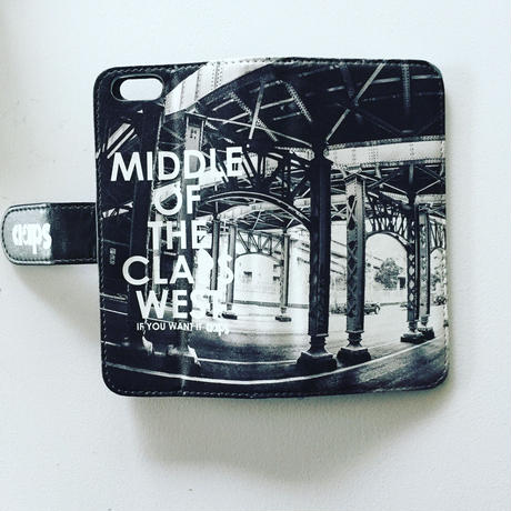 MIDDLE OF THE CLAPS PHOTO 手帳型 iPhone Case. (橋桁)
