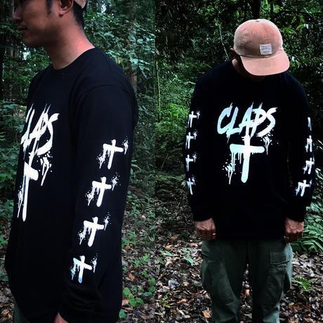 CLAPS CLOSS  L/S  T-SHIRT  (BLACK)