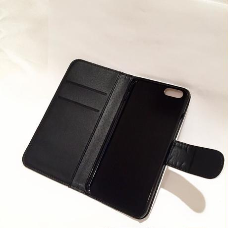 CLAPS BASIC LOGO 手帳型iPhoneCase (BLACK)